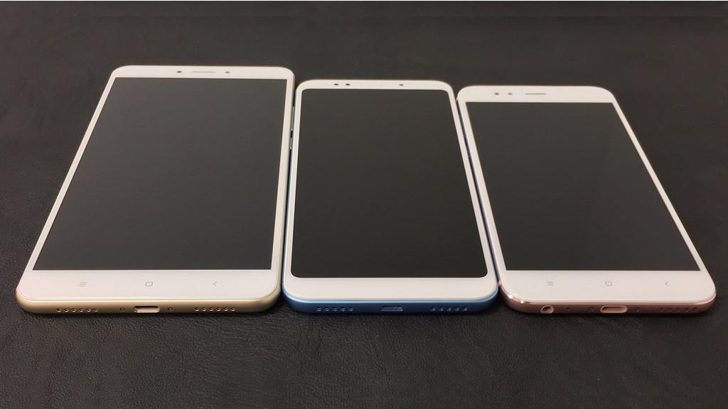 Сравнение смартфонов Mi A1, Redmi 5 Plus и Mi Max 2.