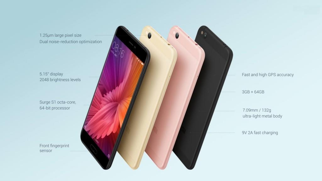 Компания MI презентовала новинки смартфонов Redmi 4X и Mi5C